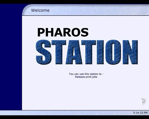 Pharos Welcome Screen